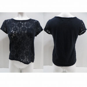 Hollister top Small unlined floral lace front slub